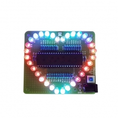 DIY LED Herz Bausatz STC89C52