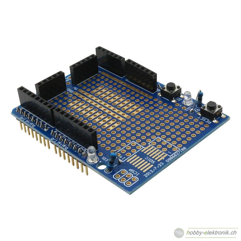 Proto shield arduino uno prototype mit breadboard