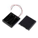 Batteriehalter Batteriefach geschlossen 4 x AA mit Schalter