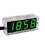 DIY LED Uhr Bausatz mit Wecker und Temperartursensor Grün