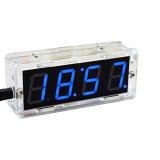 DIY LED Uhr Bausatz mit Wecker und Temperartursensor Blau