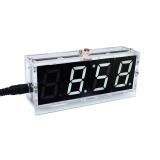 DIY LED Uhr Bausatz mit Wecker und Temperartursensor Weiss