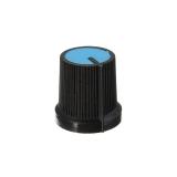 Drehknopf für Potentiometer Kunststoff Blau / Schwarz