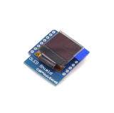 ESP8266 WeMos D1 Mini OLED Shield 64x48 I2C Blau 0.66