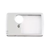 Lupe im Kreditkartenformat 3/6 Fach und LED Beleuchtung