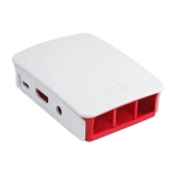 Offizielles Raspberry Pi Gehäuse Rot Weiss ABS